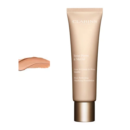 Clarins Teint Pores & Matite Pore Perfecting Matifying Foundation Podkład matujący 30ml 04 Nude Amber
